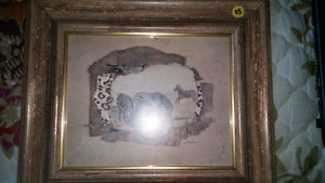 Zebra picture in frame