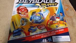 Beyblade burst battle set + 2 tops - brand new
