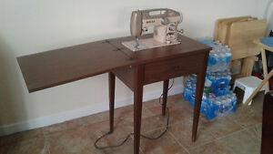 Antique Sewing Table And Sewing Box