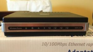 D Link wireless router with cabling
