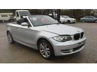 2008 BMW 118 2.0TD d SE CONVERTIBLE DAMAGED SPARES OR REPAIR SALVAGE