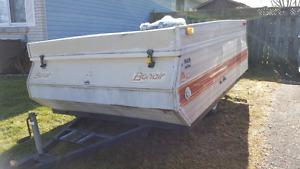 Bonair pop-up trailer for utility or sled trailer