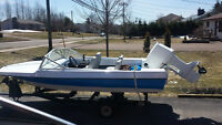 Aqua sport boat 14ft and 70hp Johnson
