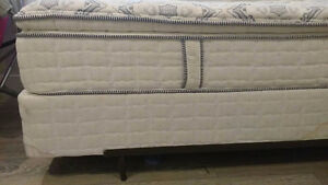 Serta Comfy Twin Mattress and Box Spring with frame