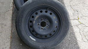 Four Winter tire with rims
