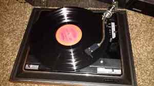 Record player c/w Simon Garfunkel Greatest Hits