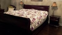 """King Size Sleigh Bed W/ """"Gibbard"""" Legacy Collection Night Stands"""