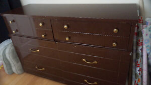 Solid Double Dresser with Dovetails and  Six Drawers