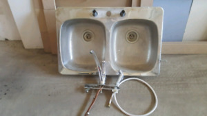 Kitchen stainless steel double sink