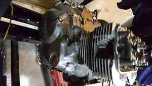 1980 honda cb400t engine for parts seized