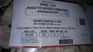 1 ticket rouge red WWE Road to Wrestlemania