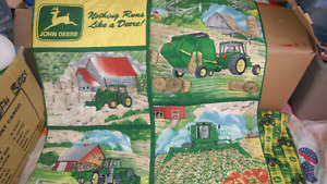 John deere valance and wall cover