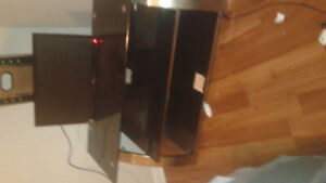42 inch tv and glass stand