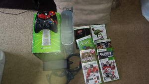 X Box 360 120 GB w 8 Games and Two Controllers
