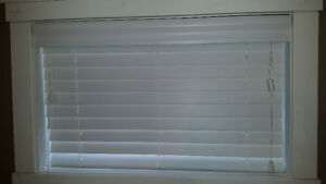 "2"" Faux Wood Blinds - $15 each or $30 for pair"