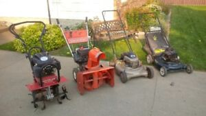 Small Engine Repair and Service (Lawnmowers, Tillers, etc)