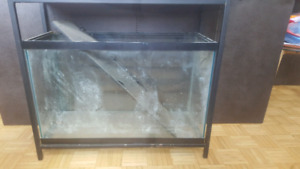 Fluval tall 29 gal aquarium with cast iron stand w/o light