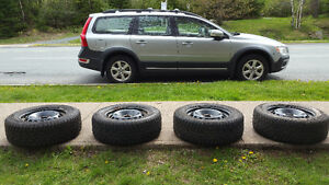 VOLVO OEM RIMS WITH WINTER TIRES 215 / 65 R 16 - SEE PHOTOS!