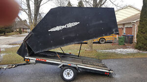 2002 Easton single enclosed trailer