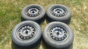 Set of 4 Tires with Rims