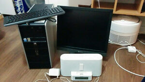 Hp desktop pc full system 19 inch monitor ,can deliver