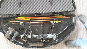 PSE compound bow and case