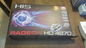 HIS Radeon 4870 DDR5 Graphic Card - tested, in box