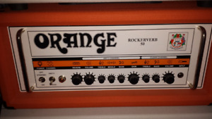 Mint Orange Rockerverb 50 watt mk1 head