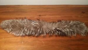 authentique FOURRURE RENARD ARGENTÉ - silver fox 25 pouces
