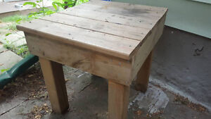 Outdoor bench AND table (2 for 1 deal)