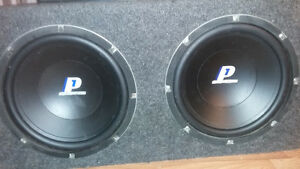 """CROSSFIRE 12"""" subs, amp, SONY deck."""
