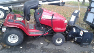 22 HP Craftsman Lawn Tractor with 2 Stage Snow Thrower