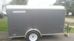 Enclosed trailer, great shape, locks, barely used. Asking $2500