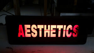 RED AESTHETICS SIGN