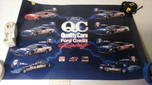Ford QC Quality Care Ford Credit Racing Poster
