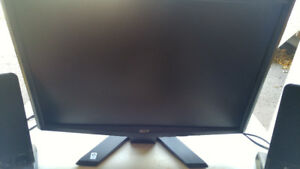 Acer monitor and 2 speakers