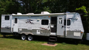 2008 springdale 30ft bunk house with queen up front