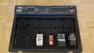 SKB Stage 5 pedal board with road case and power supply