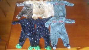 6 month baby sleepers (7x sleepers)