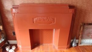 Antique Decorative Plaster Mantel