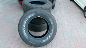 FOUR BRAND NEW GOODYEAR M+S 265/70R17 TIRES