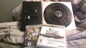 Dj Hero 1 & 2 Ps3 with turn table