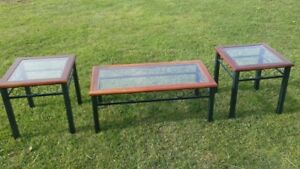 Coffee table & end tables / used