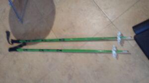 Ski Poles, Techno Pro, Gabel, Huber