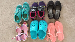 Girls sandals, runners, high boots and dress shoes