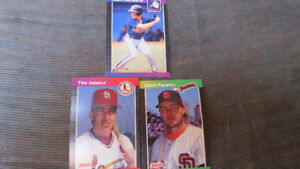 3 1989 MLB rookie cards(M.Lemke, M.Parent, T.Jones)