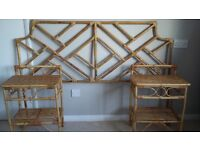 Headboard and two tables