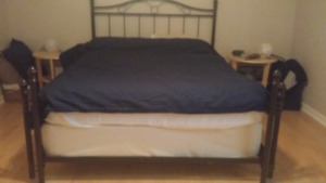 Queen bed with a box spring