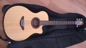 Yamaha APX 3m Elec Acoustic guitar and hardshell case