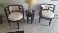 Lovely Occasional Chairs and Table Set